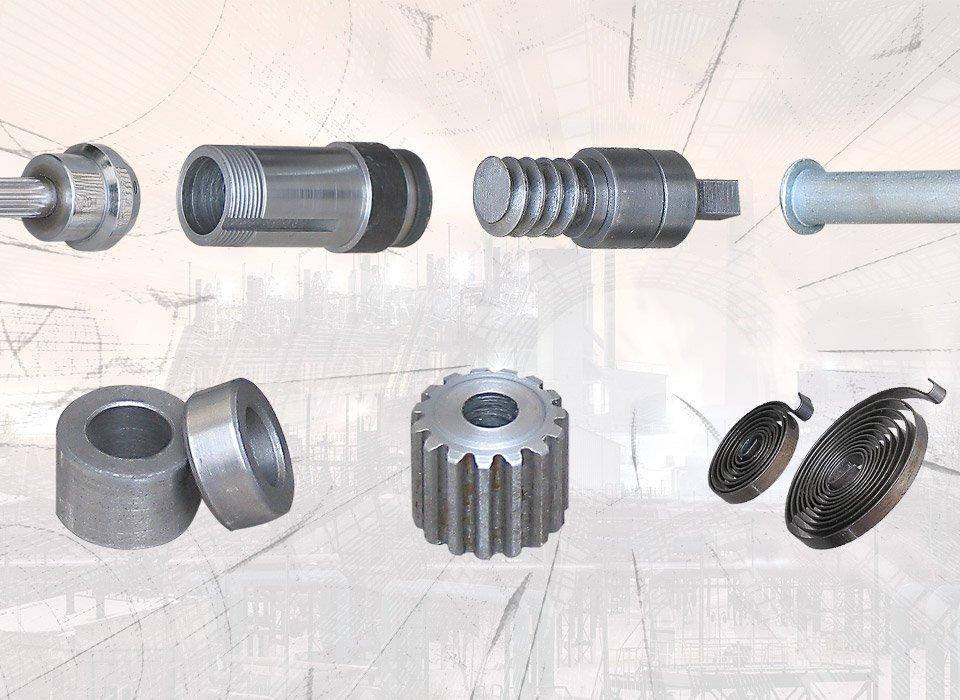 نمونه قطعات اصلی مرتبط با ساخت دریل
